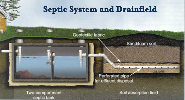 Spectic system and drainfield process example